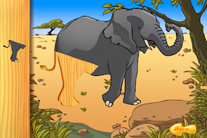 Screenshot of Wild Animals Puzzle LITE