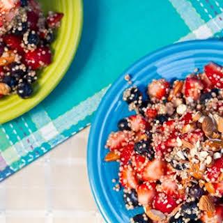 High Protein Quinoa Almond Berry Salad (Vegan & GF).