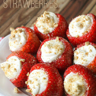 Cream Stuffed Strawberries.