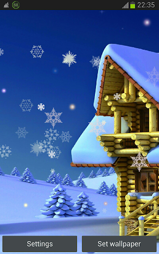 Snowing Holidays HD LWP
