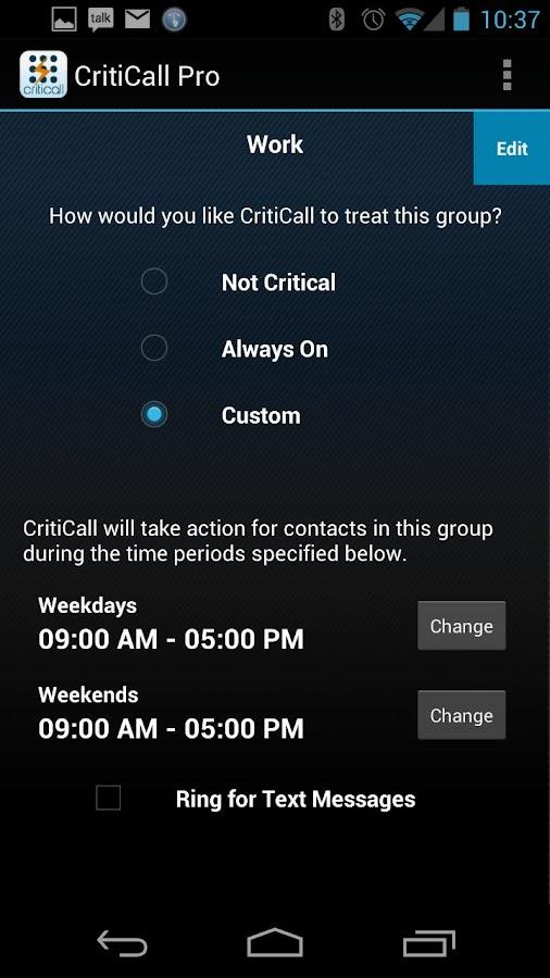 CritiCall Pro- screenshot