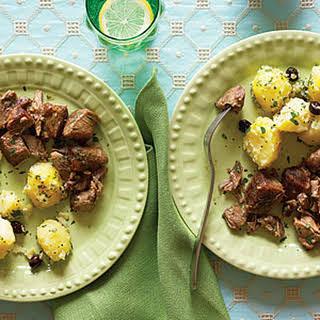 Marinated Roast Pork with Cilantro Potatoes.