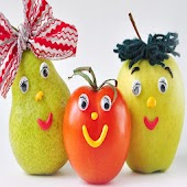 Funny Fruits Pictures Puzzle .