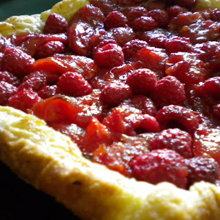 Rustic Raspberry Tomato Tart.