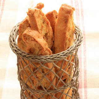Olive Oil Biscotti with Dried Figs and Almonds.