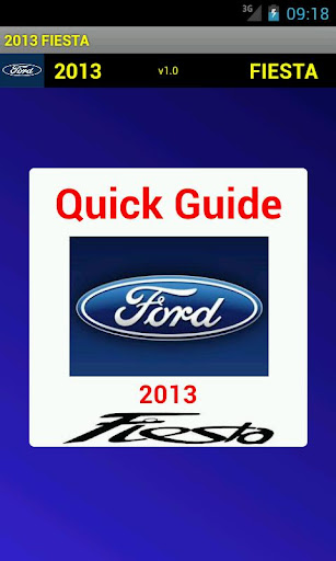 Quick Guide 2013 Ford Fiesta