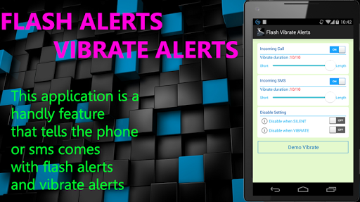 Flash Vibrate Alerts Call SMS