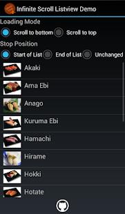 Infinite Scroll Listview Demo