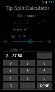 Tip Split - Tip Calculator- screenshot thumbnail