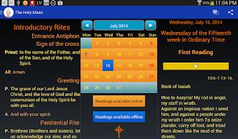 Screenshot of Holy Mass