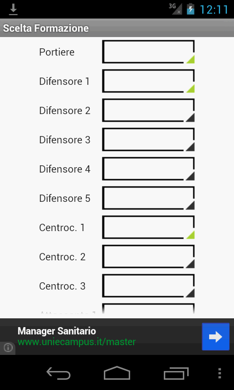 Fantacalcio Android - screenshot