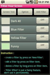 Filter Your Screen  - Free!- screenshot thumbnail