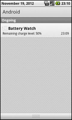 Battery Watch - Big Numbers - screenshot