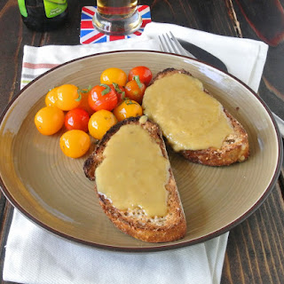 Welsh rarebit - a British grilled cheese