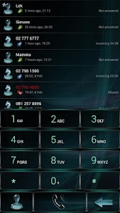 Dialer GlassAqua Metal theme v1.0