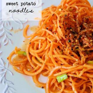 Sweet Potato Noodles ~ plus, Meal Plan Week Five.