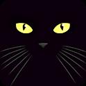 gatto nero carta da parati dal