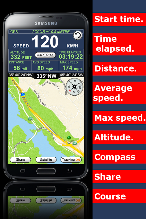 GPS Speedometer Altimeter  +- screenshot