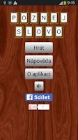 Screenshot of Poznej Slovo