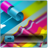 Rainbow Roll Go Locker Theme icon