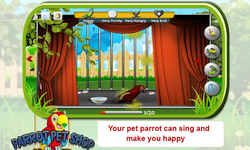 Parrot Pet Shop -Bird pet game - screenshot