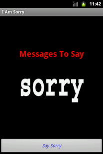 I am Sorry Messages - screenshot thumbnail