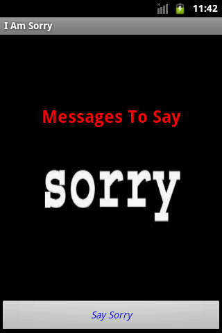I am Sorry Messages - screenshot