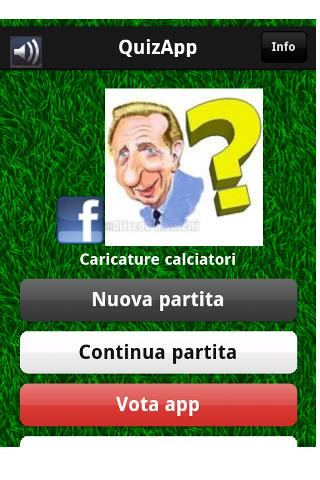 QuizApp comics footballers - screenshot