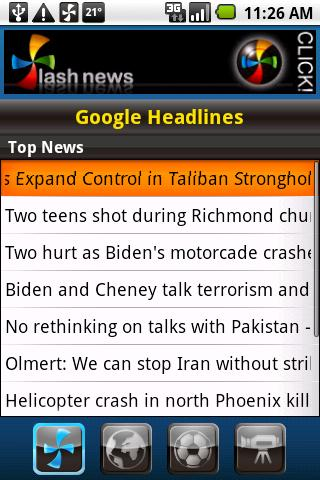 Flash News for Android screenshot