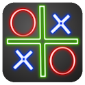 Tic Tac Toe neon icon