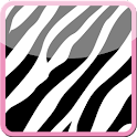 Cute Pink Zebra Keyboard Skin icon