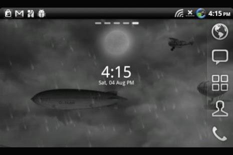 Lightning Live Wallpaper Clock - screenshot thumbnail
