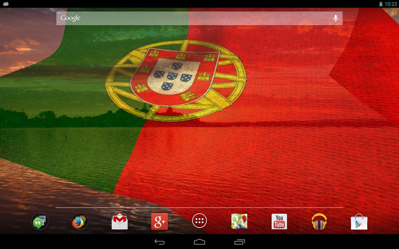 3D Portugal flag LWP - screenshot