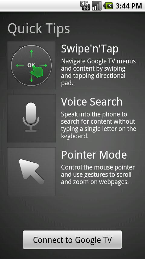 Google TV Remote - screenshot