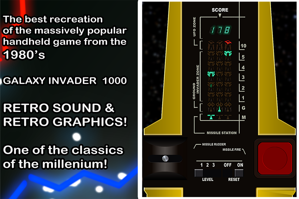 Galaxy Invader 1000 Retro Game- screenshot