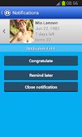 Screenshot of Birthday Calendar (Upcoming)