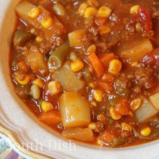 Ground Beef Hobo Stew.