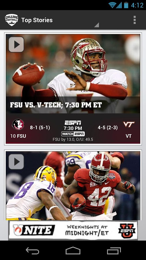 ESPN College Football - screenshot