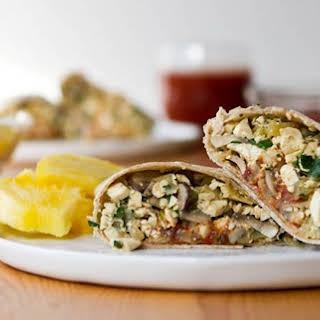 High Protein Vegan Breakfast Burrito.