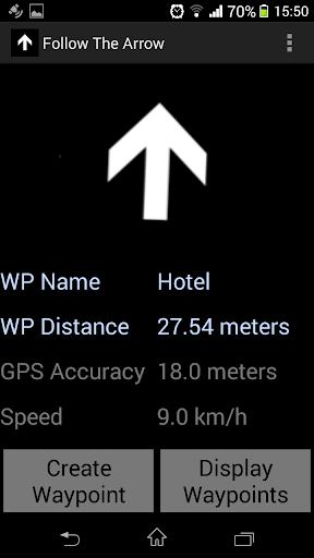 Arrow GPS Navigation Waypoints