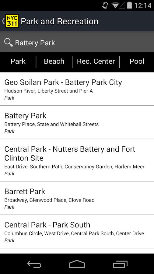 NYC 311- screenshot
