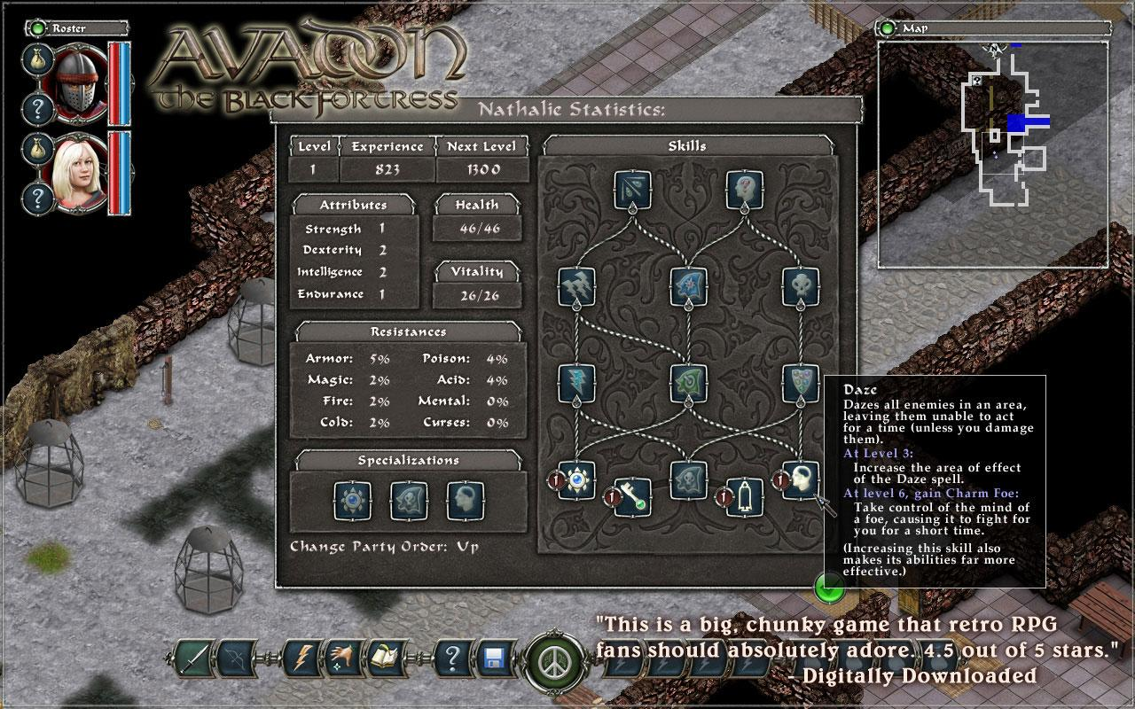 Demo Avadon The Black Fortress- screenshot