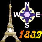 Offline GPS Paris 1832 icon