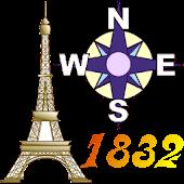 Offline GPS Paris 1832