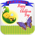 Children day greetings icon