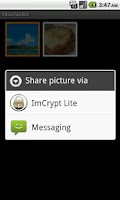 Screenshot of ImCrypt Lite
