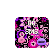GO SMS - Frilly Flowers