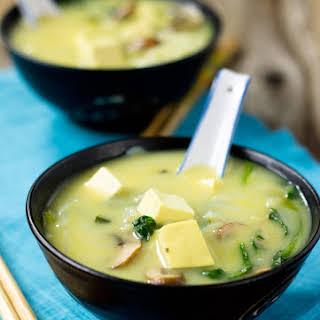 Thai Coconut Tofu Vege Soup.