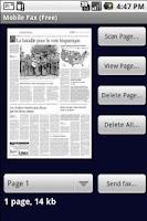 Screenshot of Mobile Fax Free