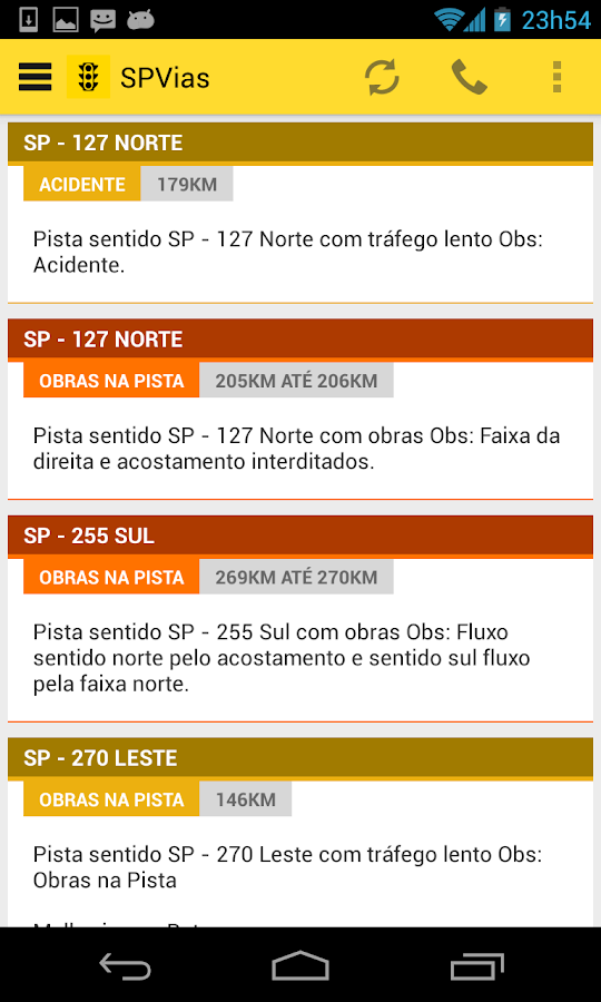 Trânsito SP- screenshot